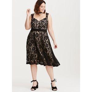 Torrid Lace Bustier MIDI Dress Size 26